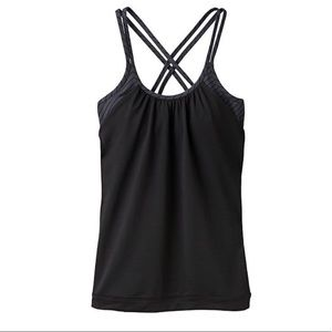 NWT ATHLETA | Zippy Hidden Agenda Tank Black Gray